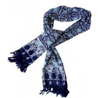étole bleue batik equitable