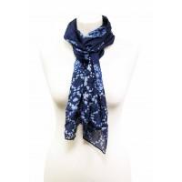 soie bleue echarpe equitable