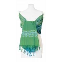 etole equitable verte bleue coton