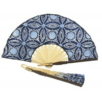 eventail bleu equitable batik