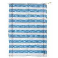 Torchon en coton égyptien bleu et blanc