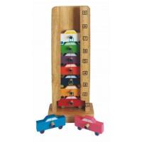 Garage à voitures chiffres et couleurs
