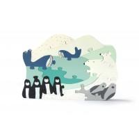 Puzzle arctique banquise en bois