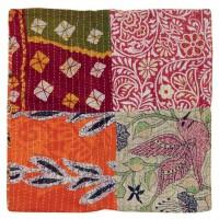 Housse de coussin sari recyclé