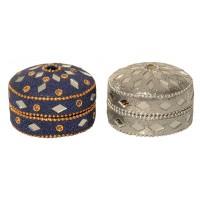 lot de 2 boites bijoux
