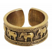 bague éléphant dorée