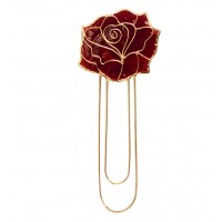 marque page coquillage fleur rouge