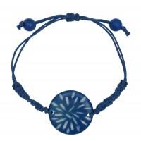 Bracelet bleu équitable ivoire végétale