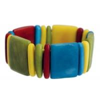 Bracelet en tagua ivoire végétale coloré équitable