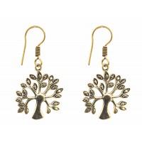 boucles oreilles dore arbre equitable