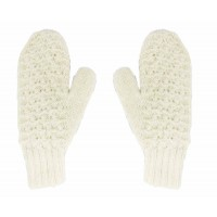 moufles blanches alpaga