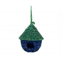 nichoir oiseau bleu vert equitable