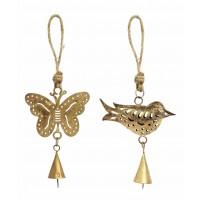 décoration papillon oiseau equitable noel