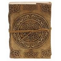 carnet cuir camel artisanal