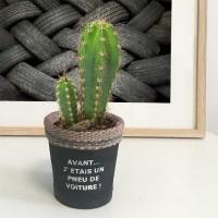 Cache-pot pneu recyclé