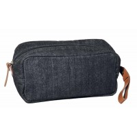 trousse de toilette jean recycle equitable