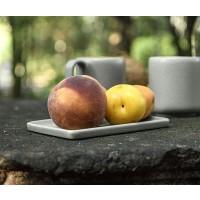 assiette ceramique grise