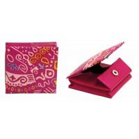 porte monnaie rose cuir equitable