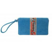 portefeuille bleu coton equitable
