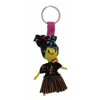 Porte-clé poupée africaine équitable