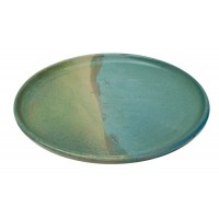 assiette-dessert-ceramique-bleu-vert-equitable