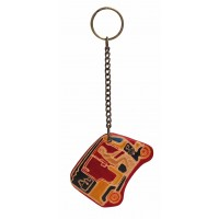 porte-clés tuktuk en cuir