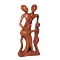 statuette famille bois bali