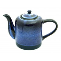 theiere ceramique bleue