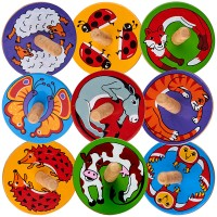 lot de 18 toupies animaux ferme