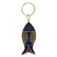 Porte-clés poisson équitable céramique