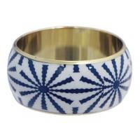 Bracelet bleu et blanc équitable