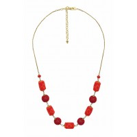 collier rouge orange commerce equitable