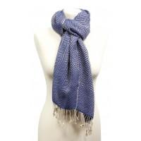 echarpe-bleu-coton-equitable-longue