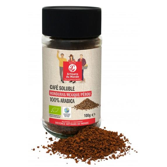 Café soluble biologique du Mexique