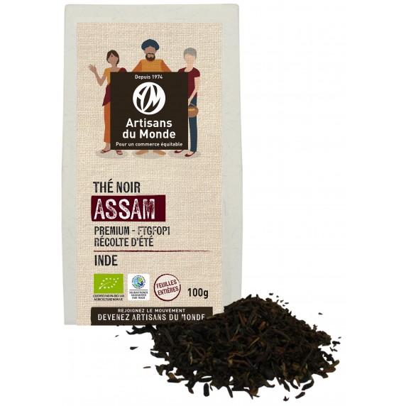 Thé noir bio d'Assam bio et équitable
