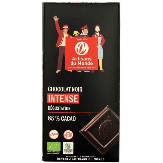 Chocolat noir intense dégustation bio et équitabe