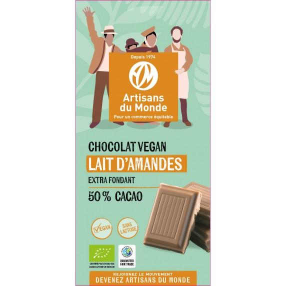Chocolat fondant amandes vegan Bio et équitable - 100gr