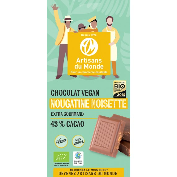 Chocolat Vegan noisettes