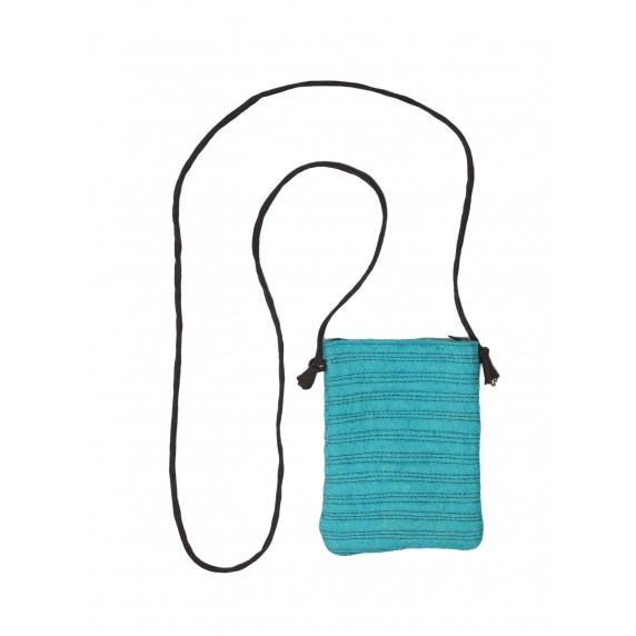 Pochette passeport turquoise