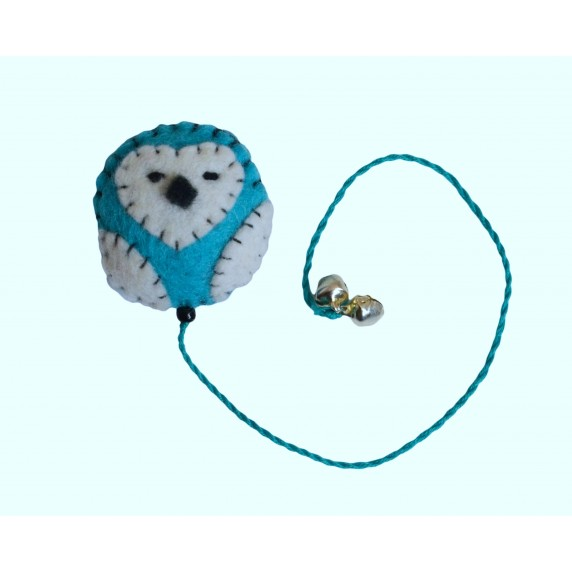 Marque-pages hibou turquoise