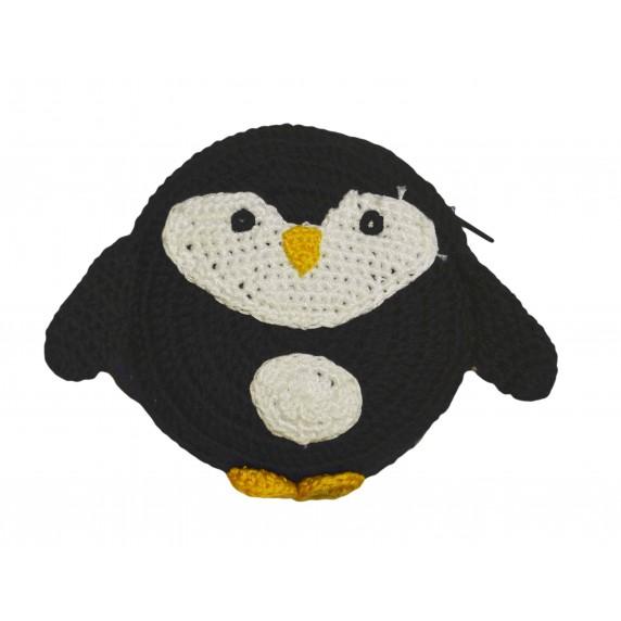 Porte-monnaie pingouin noir