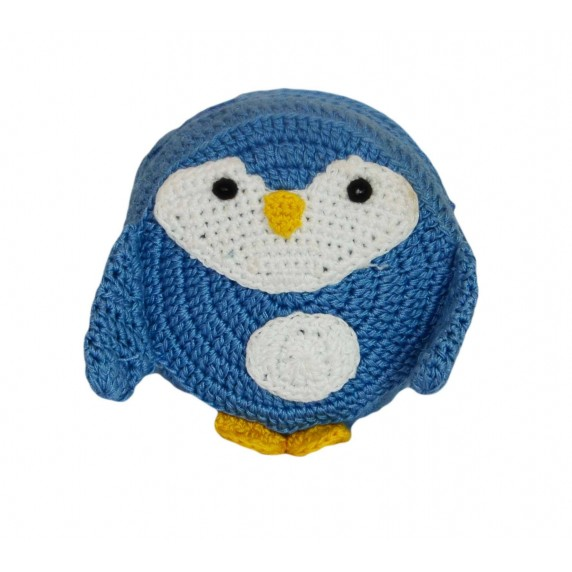 Porte-monnaie pingouin bleu
