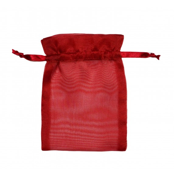 Lot de 10 Sachets bijoux rouge P