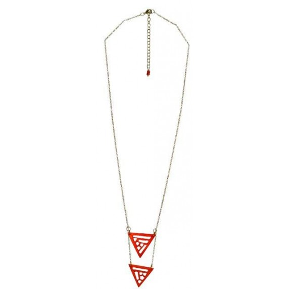 Collier Triangles orange