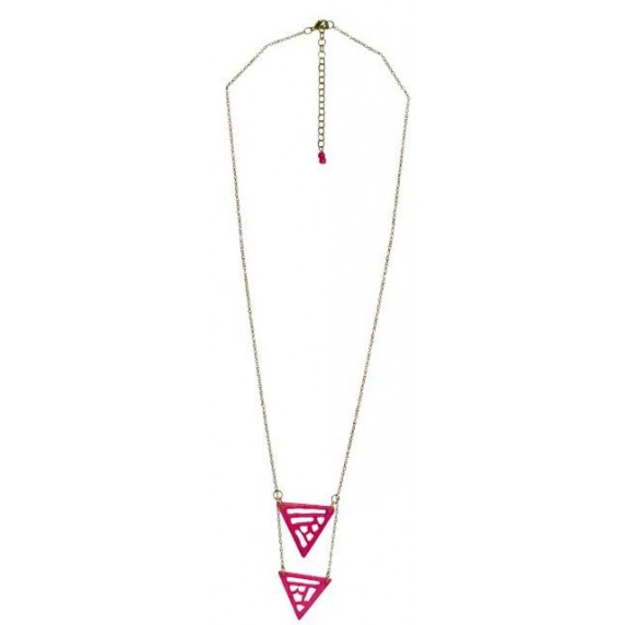 Collier Triangles rose
