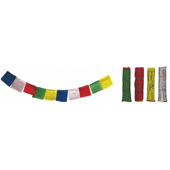 Set de 5 drapeaux tibétains