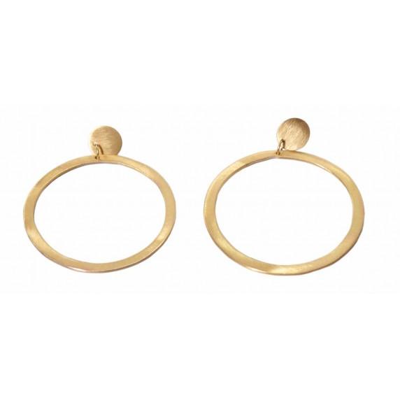 boucles oreilles pendantes anneaux