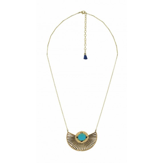 collier equitable dore turquoise