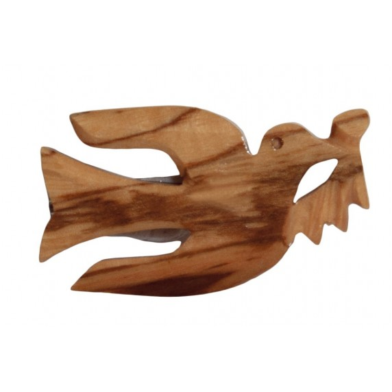 Broche Colombe en bois