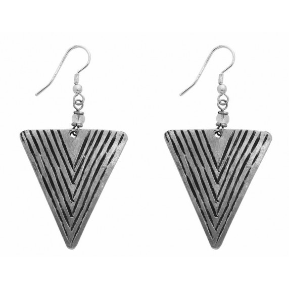 boucles triangle argentees